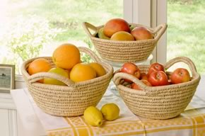Fruit Bowl with Natural Rim