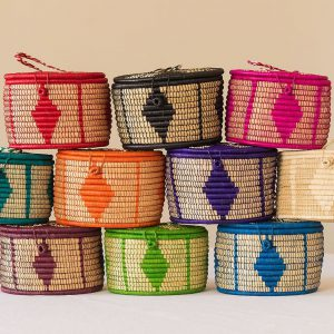 Oval Lidded Storage Baskets